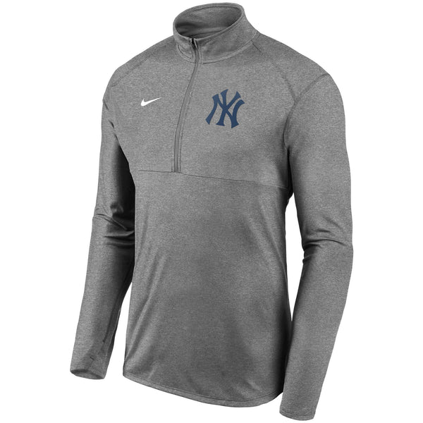 Men's Nike Yankees Grey Team Logo Element Performance Half-Zip Pullover