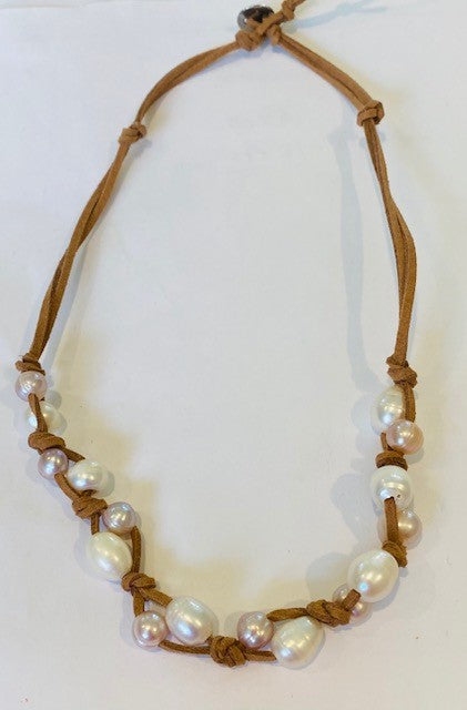 Stephen Pink Cecelia Pearl Necklace