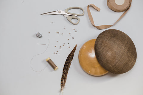 Image of hat making materials