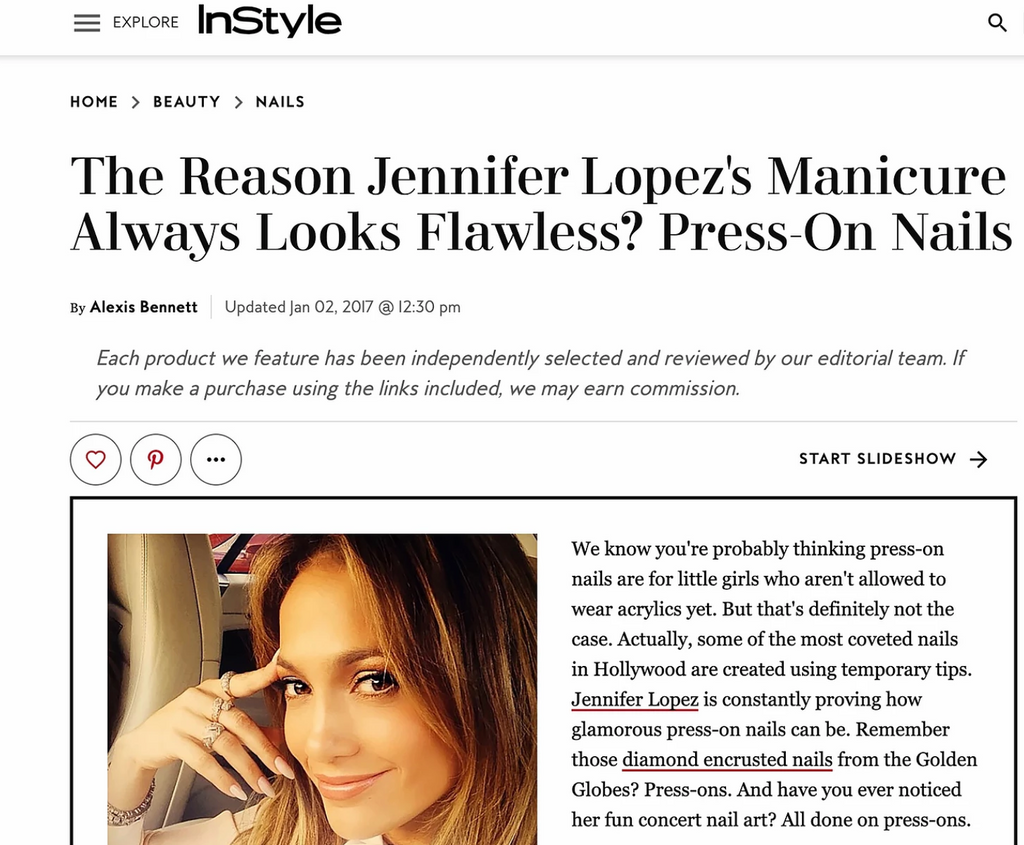 Jennifer Lopez's Secret to Flawless Nails