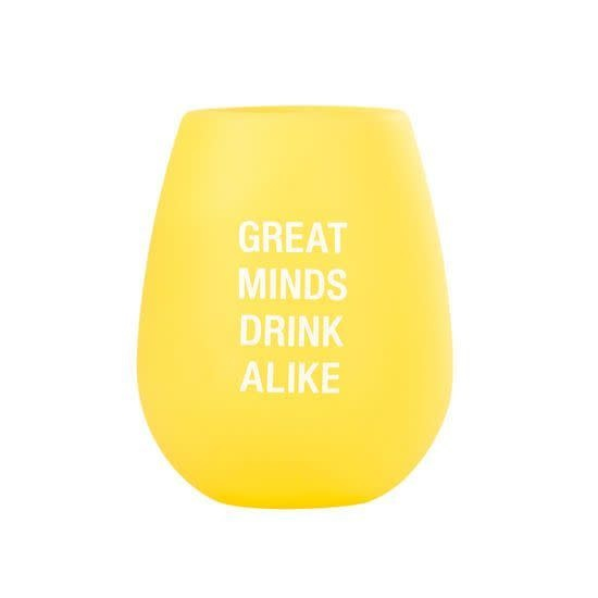 Greats Minds Silicone Wine Cup