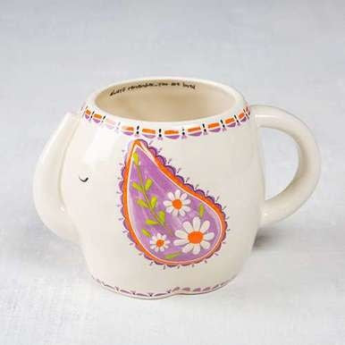 Elephant Folk Art Mug