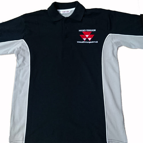 mf tractor spares polo shirt (small)