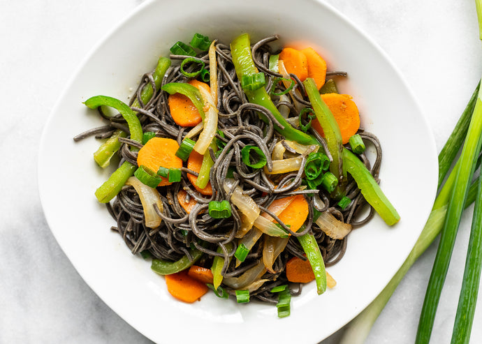 Healthy Asian Black Bean Noodle Stir-Fry