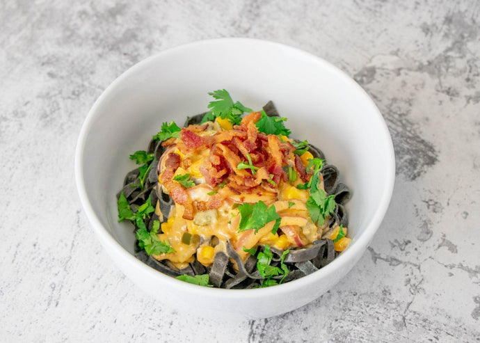 Southwest Chipotle Pasta with Black Bean Fettuccine
