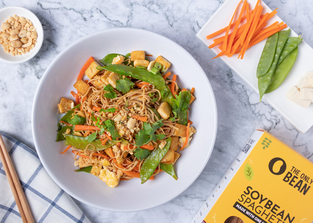 Vegetable Pad Thai with Bean Noodles