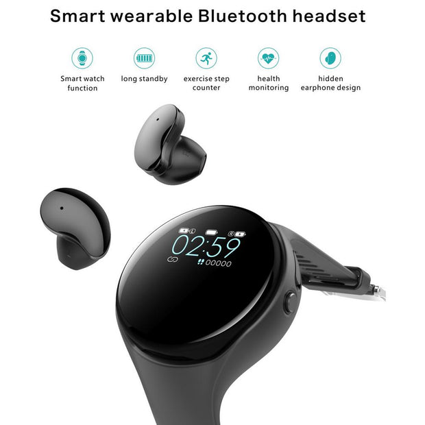 Smart Watch With Bluetooth Headset - Health Tekz