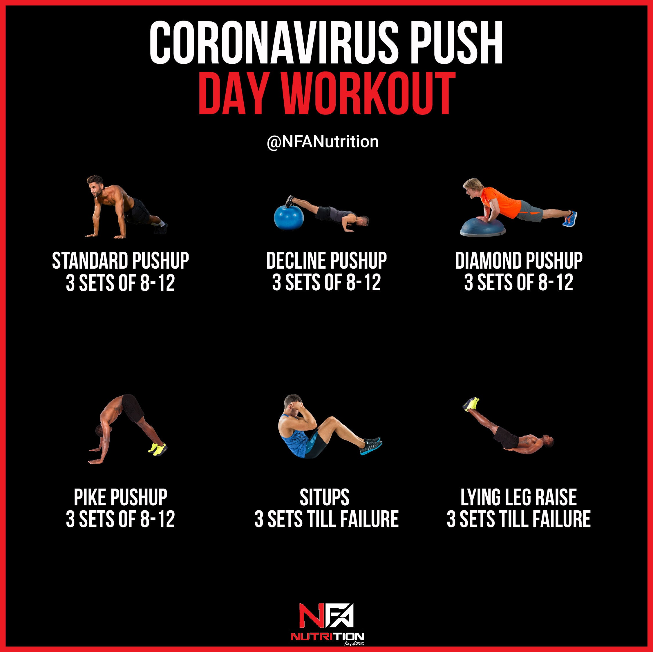 At Home PUSH Workout during COVID-19