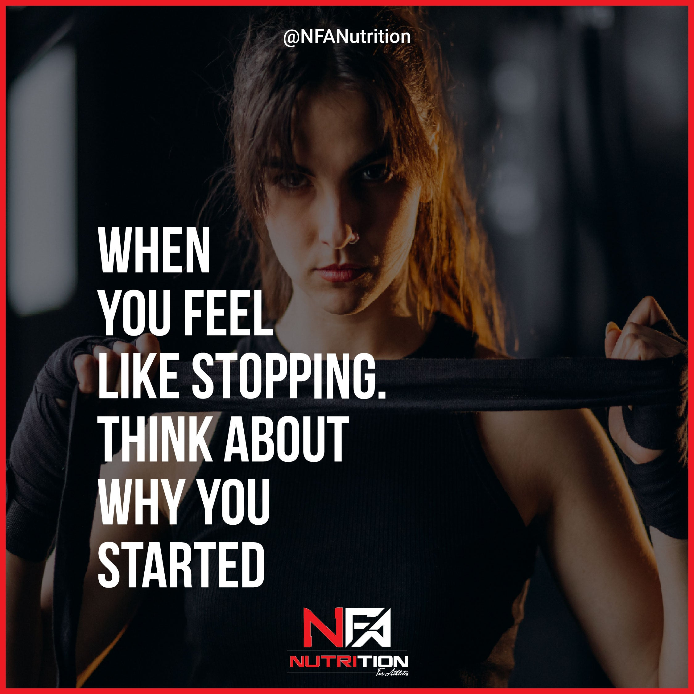 When you feel like stopping...