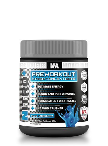 NITRO+ Blue Raspberry - 300g<br>Extreme Energy Pre-Workout