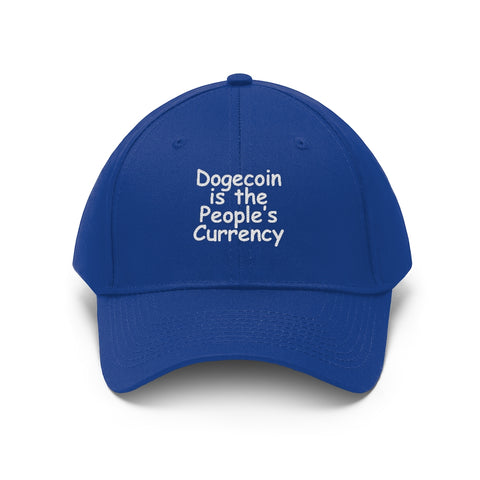 dogecoin is the people's currency unisex hat