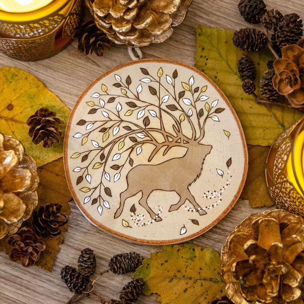 Winds & Blossoms - Wooden Hanging Ornament