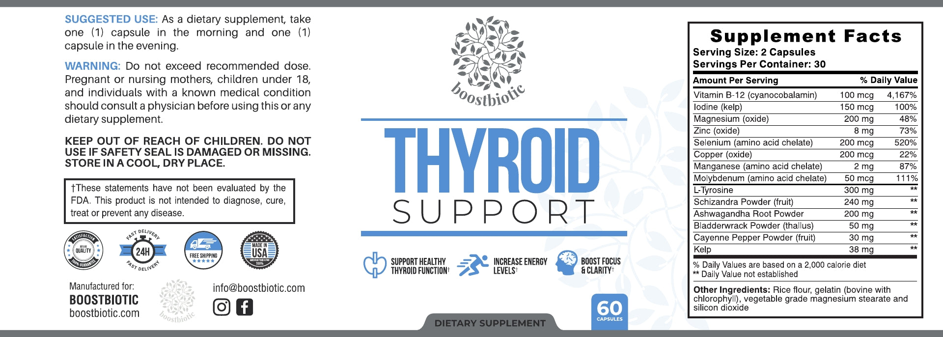Thyroid Support Label Boost Biotic