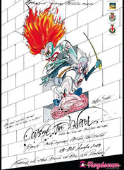 Outside the Wall poster made by Gerald Scarfe