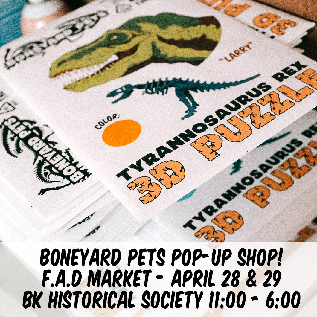 Pop-Up Shop this weekend! April 28 & 29 in Brooklyn!