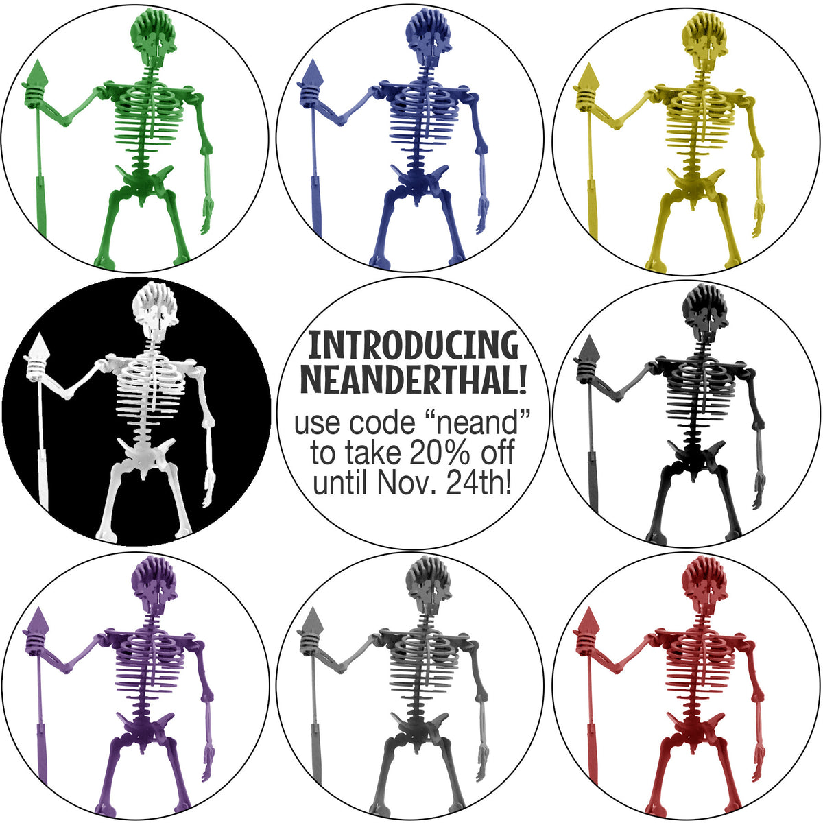 Introducing...NEANDERTHAL! Our newest Boneyard Pet!