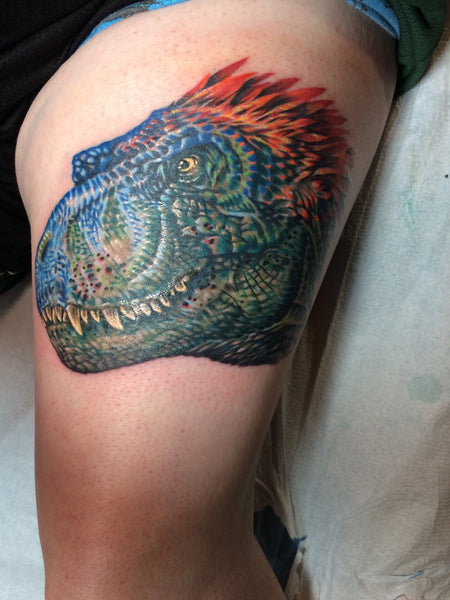 T-Rex Tattoo by Abby Lusk