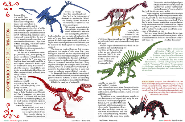 Boneyard Pets in Fossil News Magazine
