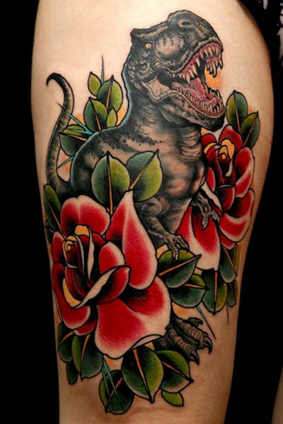 T-Rex Tattoo by Uncle Allan
