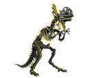 "Oversized 3D Dinosaur Puzzle - Dilophosaurus (34"" H x 26"" L) - 1/4"" Recycled HDPE - 8 Two-Tone Color Combinations"