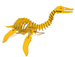 "Oversized 3D Dinosaur Puzzle - Plesiosaurus (48"" L x 26"" H ) - 1/4"" Recycled HDPE - 8 Two-Tone Color Combinations"
