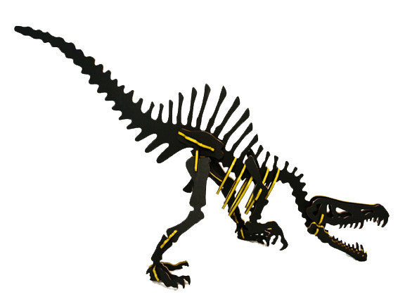 "Oversized 3D Dinosaur Puzzle - Spinosaurus (48"" L x 26"" H) - 1/4"" Recycled HDPE - 8 Two-Tone Color Combinations"