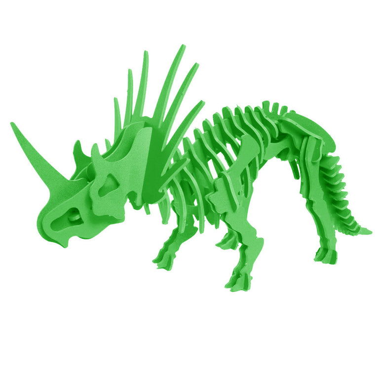 3D Dinosaur Puzzle - Styracosaurus - Komatex PVC - 9 Color Options