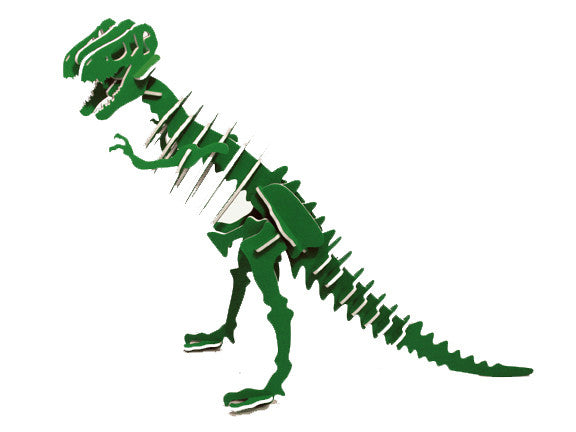 "Oversized 3D Dinosaur Puzzle - Tyrannosaurus Rex (28"" L x 22"" H) - 1/4"" Recycled HDPE - 8 Two-Tone Color Combinations"