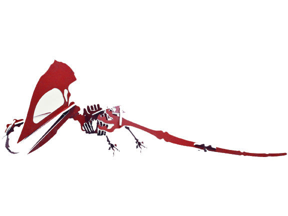 "Oversized 3D Dinosaur Puzzle - Tupuxuara (26"" L x 48"" H) - 1/4"" Recycled HDPE - 8 Two-Tone Color Combinations"