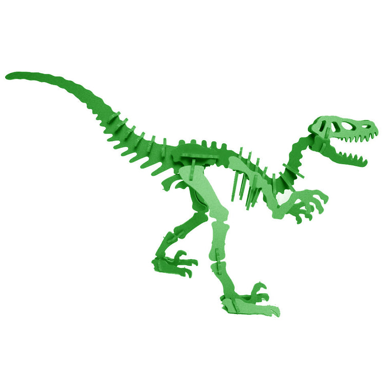 3D Dinosaur Puzzle - Velociraptor - Komatex PVC - 9 Color Options