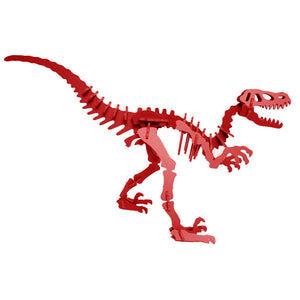 Dinosaur Toys - 3D Puzzle - Red Velociraptor