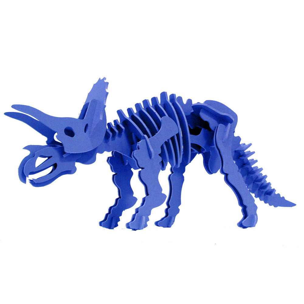 Dinosaur Toys - 3D Puzzle - Blue Triceratops