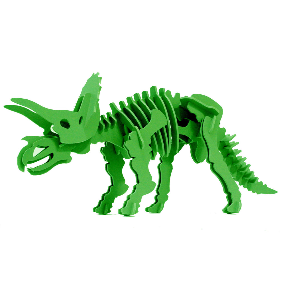 Dinosaur Toys - 3D Puzzle - Green Triceratops