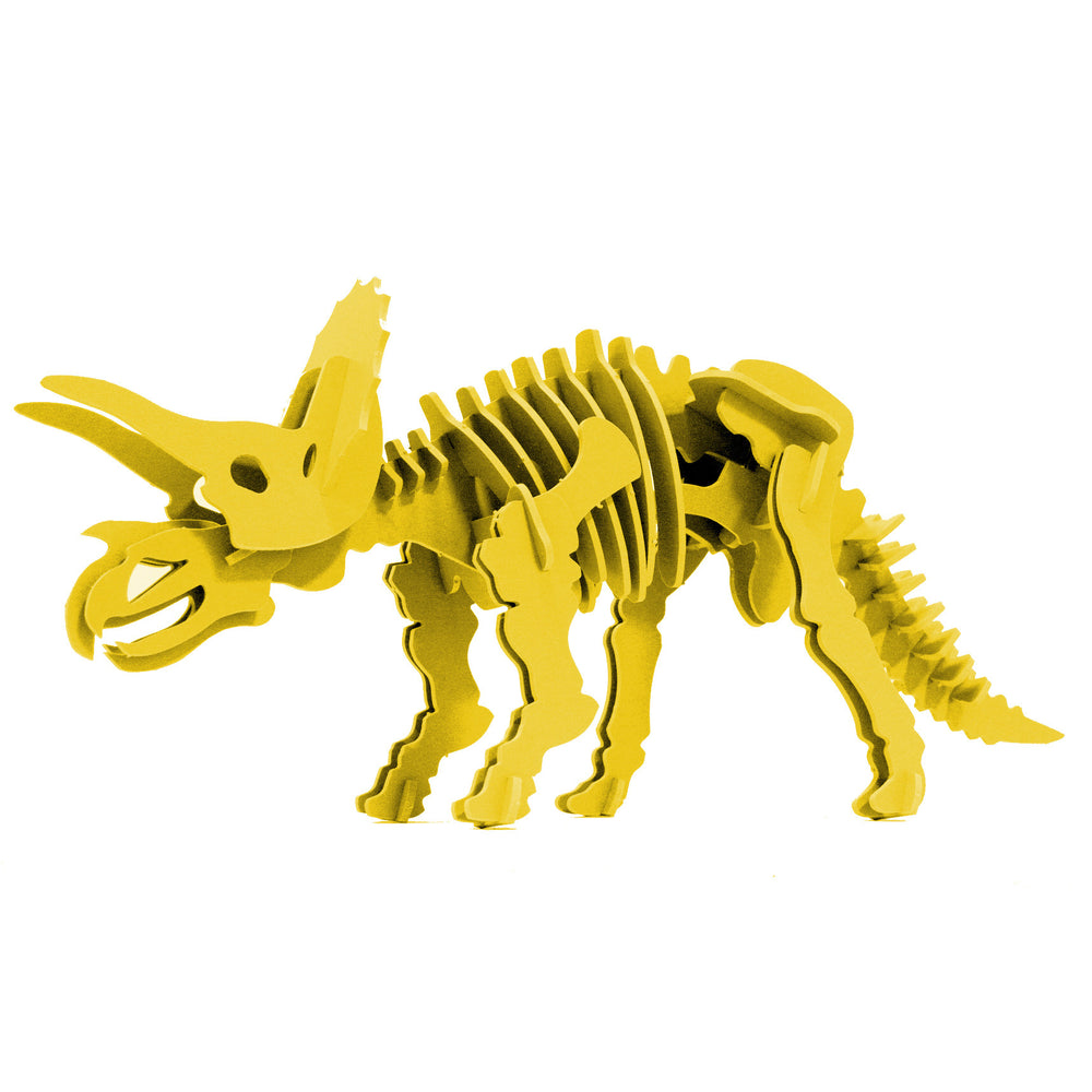 Dinosaur Toys - 3D Puzzle - Yellow Triceratops