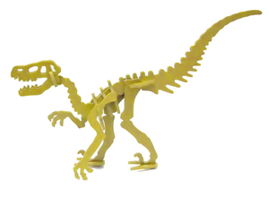 MINIATURE! 3D Dinosaur Puzzle - Moe the Velociraptor - 9 Color Options