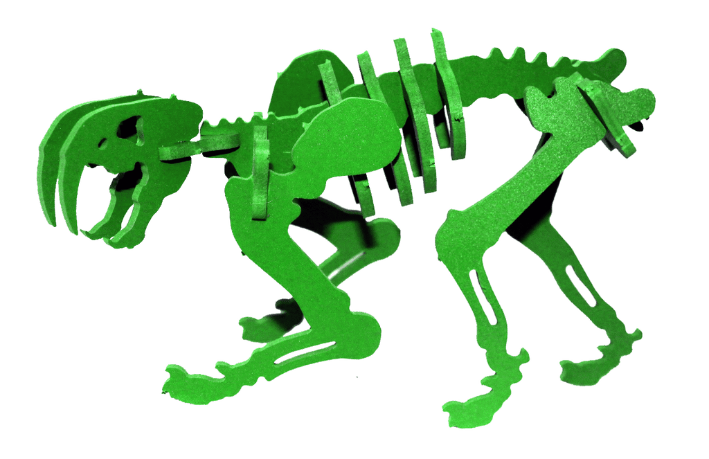 MINIATURE! 3D Puzzle - Smilodon - Komatex PVC - 9 Color Options