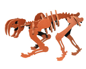 NEW [ HATCHLINGS ] 3D Animal Puzzle Pinga the Smilodon - 7 Color Options
