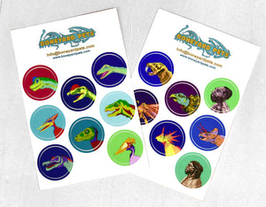 NEW! Dinosaur Stickers - Pack of 2 Sheets (16)