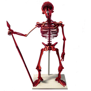 "[GIANT] 3D Skeleton Puzzle - Neanderthal (78"" H x 54"" W) - 1/2"" Recycled HDPE - 8 Two-Tone Color Combinations"