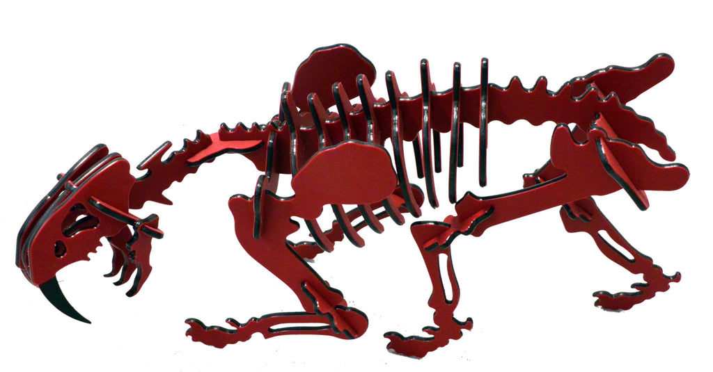 Oversized 3D Dinosaur Puzzle - Smilodon - Recycled HDPE - 8 Two-Tone Color Combinations