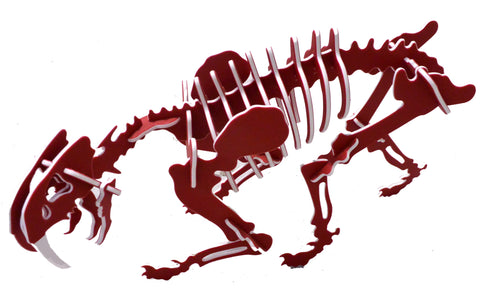 NEW! 3D Dinosaur Puzzle - Smilodon - Two-Tone HDPE - 8 Color Combinations