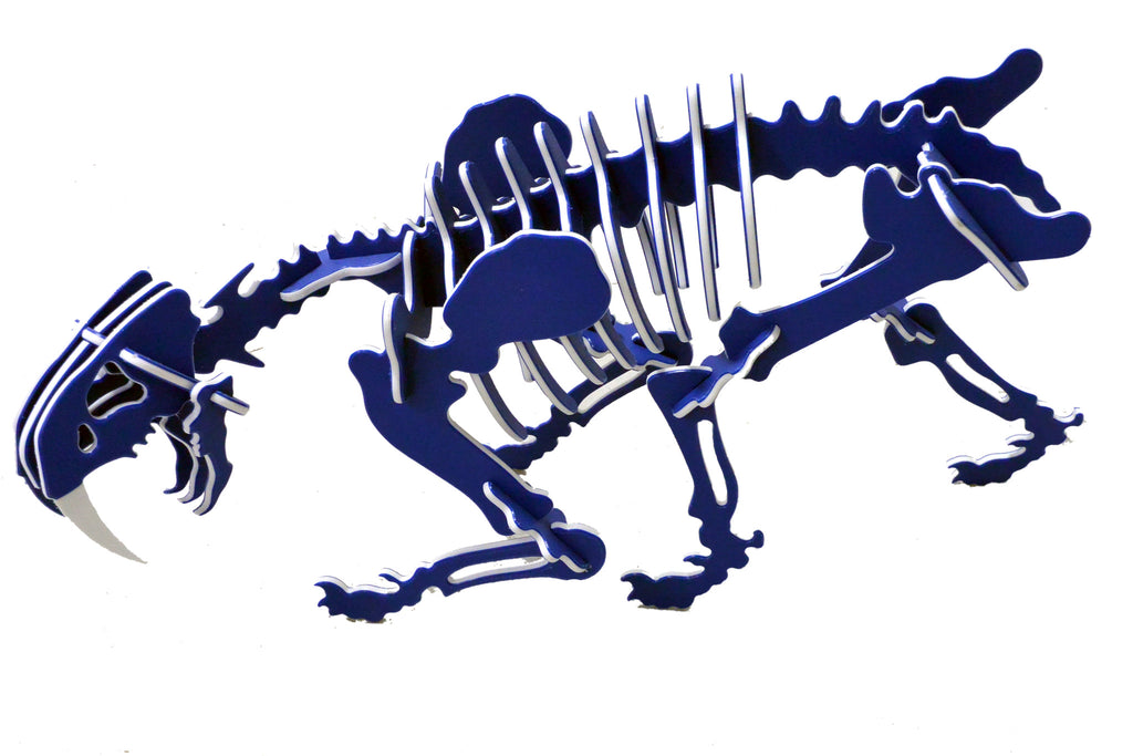 GIANT 3D Dinosaur Puzzle - Smilodon - Two-Tone Recycled HDPE - 8 Color Combinations