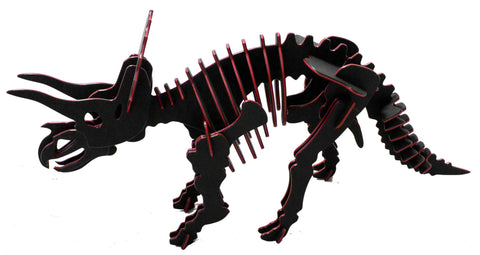 NEW! Oversize 3D Dinosaur Puzzle - Triceratops - Two-Tone HDPE - 8 Color Combinations