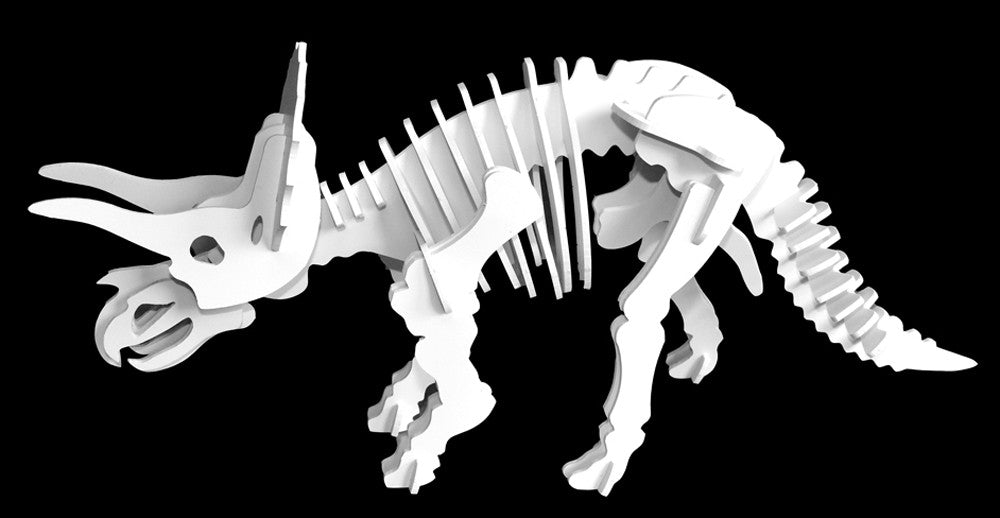 Dinosaur Toys - 3D Puzzle - White Triceratops