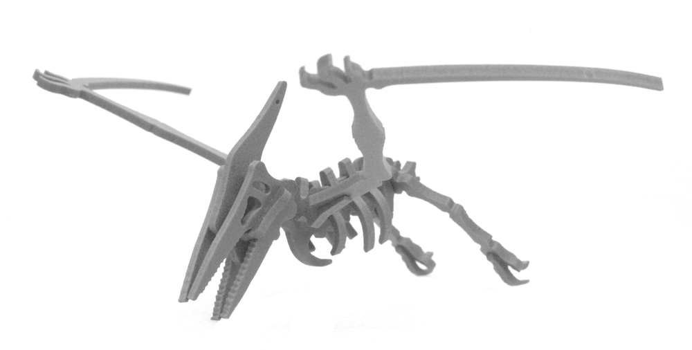 MINIATURE! 3D Dinosaur Puzzle - Slim the Pterodactyl - 9 Color Options
