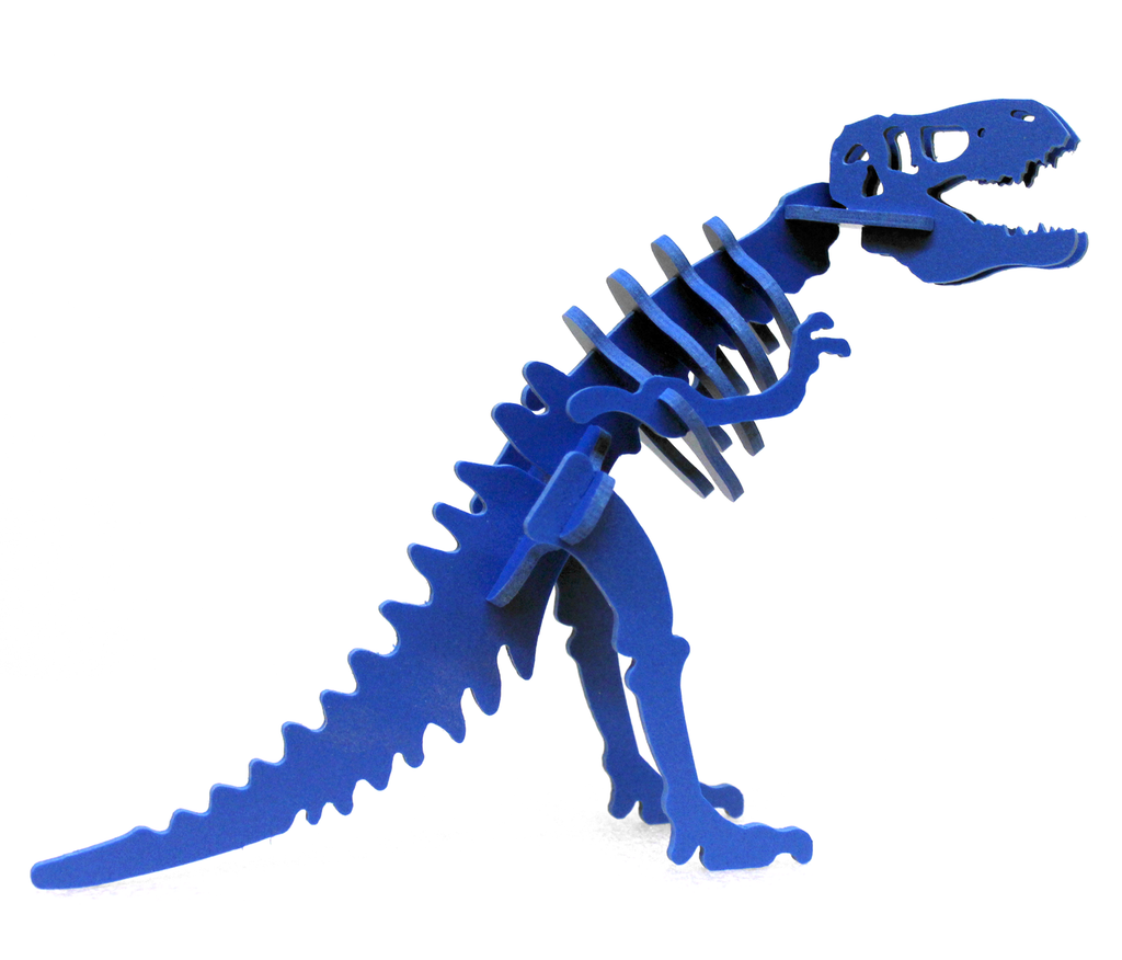 MINIATURE! 3D Dinosaur Puzzle - Tyrannosaurus rex - Komatex PVC - 9 Color Options