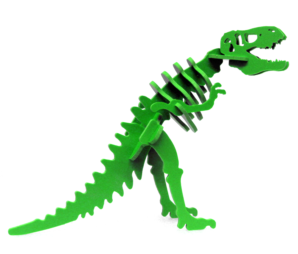MINIATURE! 3D Dinosaur Puzzle - Larry the Tyrannosaurus rex  - 9 Color Options