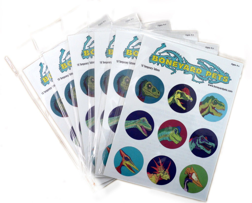 Set of 18 Temporary Tattoos : Series 1