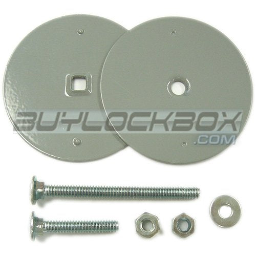 Gray Door Hole Cover for Hinged Hasp