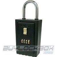 NuSet 4-Number Combination Lock Box with Keyed Shackle